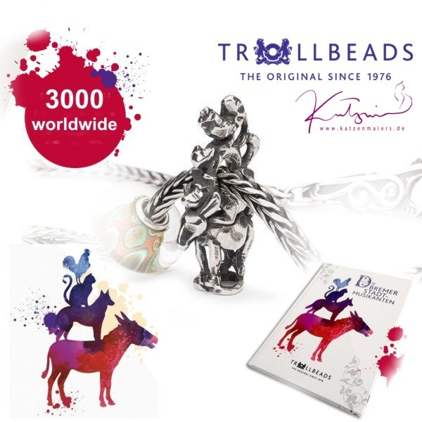 Trollbeads - Town Musicians of Bremen incl. Box & Book