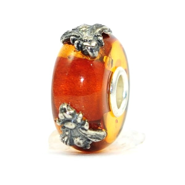 Trollbeads Day 2018 - Wings of Amber with 2 bees