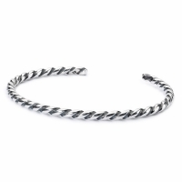 Trollbeads - Twisted Silver Bangle - XXS