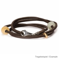 Trollbeads - Starter - Leather Bracelet incl. Lock and Bead PG I - brown